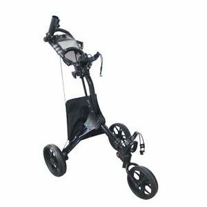 NEW Hoveroid Foldable 3 Wheel Golf Push Cart Aluminum Structure Suitable Cart