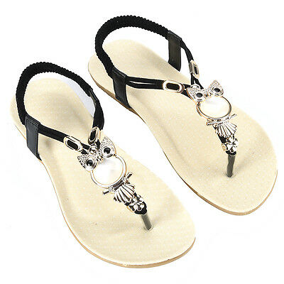 Women Fashion Summer Bohemia Slippers Flip Flops Flat Sandals Beach Thong Shoes