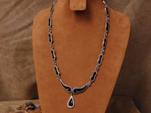 Great Gift!!!Authentic Handmade 925 Sterling silver mosaic authentic and natural stone Caftan Necklace ..