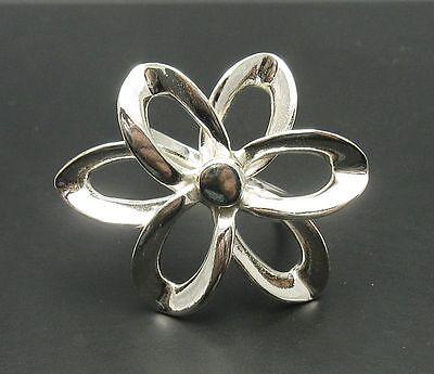 Anillo de plata esterlina sólida 925 Flor r001490