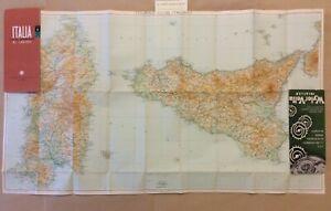 Cartina Completa Sicilia.Foglio 4 1953 Carta Generale Italia Sicilia E Sardegna 1 500 000 Cartina 1953 Ebay
