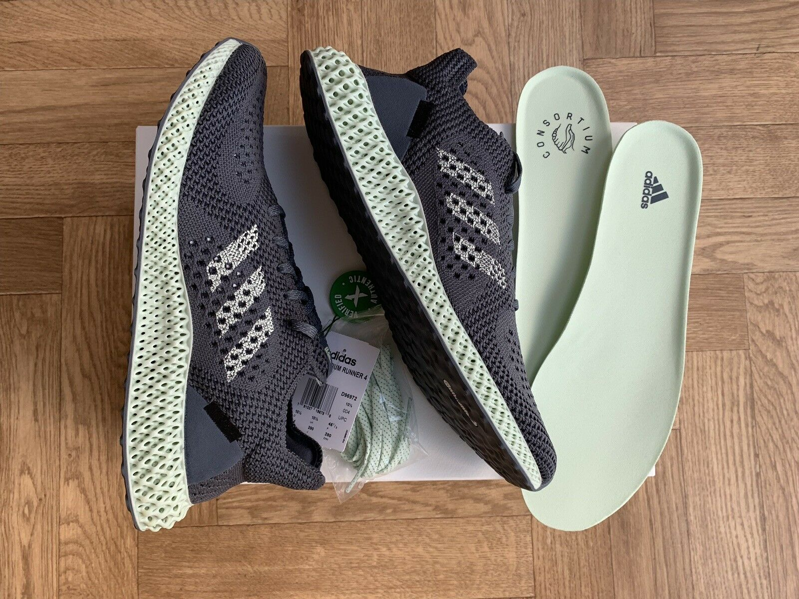 Adidas Futurecraft 4D Onix Aero Grey Size 10.5 Boxed New Rare Quality shoes