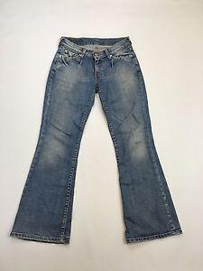 Damen-Levi-529-034-Bootcut-034-Jeans-W27-L30-Faded-Navy-Wash-super-Zustand