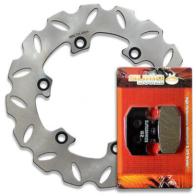 1998-2001 Street Bike Rear Race Proven 420 Stainless Steel Brake Disc Rotor Pads Combo for YZF R1 Yamaha Front Sumo
