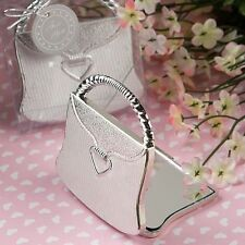 40 Elegant Reflections Silver Purse Compact Mirror Wedding Shower Gift Favors