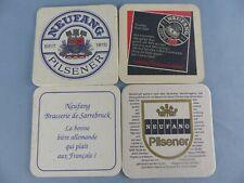 Lot de 4 SOUS BOCK NEUFANG 1 export FRANCE beer mats bierviltje Bierdeckel C98