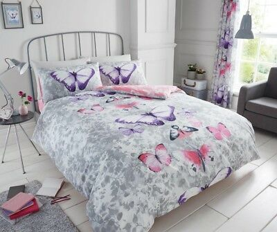 Butterfly Duvet Cover Bedding Set With Pillow Case Double Single Super King Size