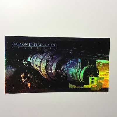 Babylon 5 Collectibles Selfless 1997 Starcon Convention Babylon 5 Ultra Foil Limited Issued Test Card