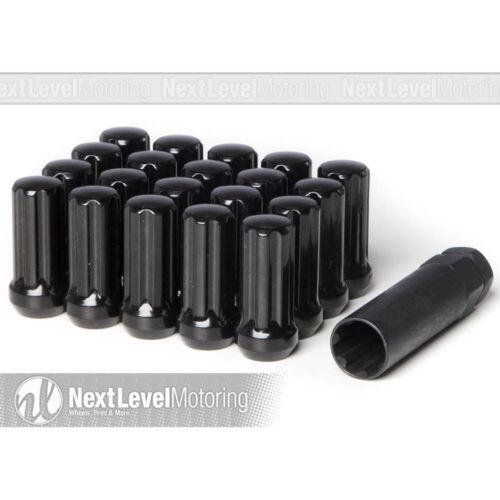 Circuit Steel Closed End Black 7 Spline Lug Nuts 14x1.5 20pc Fits Dodge Chrysler