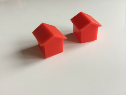 Vintage 1961 Monopoly Original Spares Green Houses /& Red Hotels Plastic