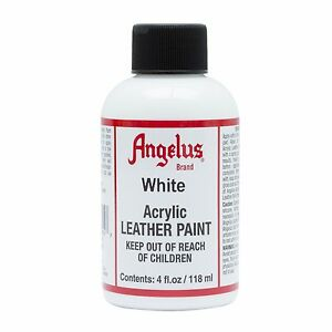 Angelus-WHITE-acrylic-leather-paint-Dye-4-oz-bottle-for-Shoes-Bags-Boots