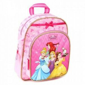 Details about Girls Disney Princess Backpack Children Character Disney School Nursery Bag