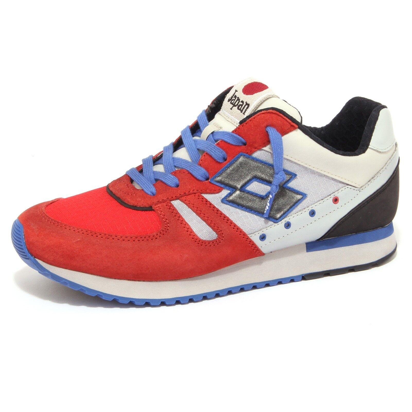 9120P sneaker uomo LOTTO LEGGENDA TOKYO SHIBUYA rosso/grigio/blu/nero shoe Uomo