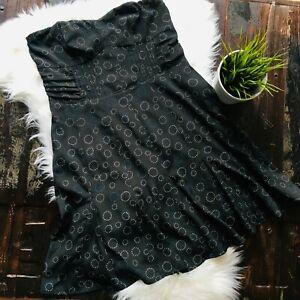AMERICAN-EAGLE-AEO-Gray-Circles-Strapless-Dress-Chiffon-Women-039-s-10-NEW-NWT