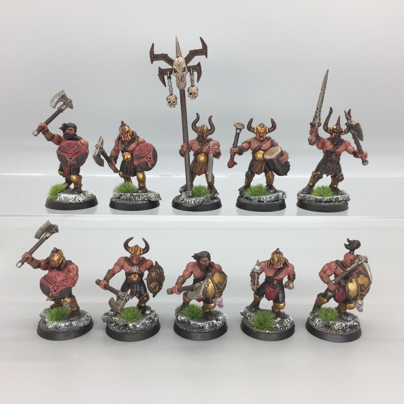 WARHAMMER Age of Sigmar warriors of chaos Maraudeurs Unité REGIMENT peint