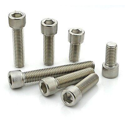 10PCS-100PCS 304 Stainless Steel Hexagon Head Cap Bolt Screw M1.4 M1.6