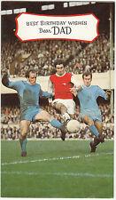 VINTAGE anni 1960 TANTI AUGURI PAPA 'Biglietto D'auguri Arsenal FC Football Bobby Gould