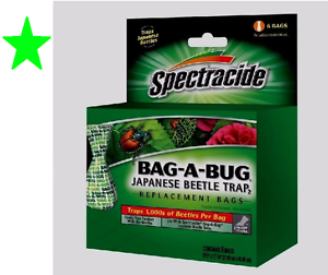 Spectracide-BAG-A-BUG-Japanese-Beetle-Traps-6-REPLACEMENT-BAGS-HG-56903-Insect