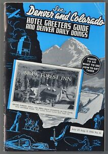 Details about 1945 DENVER COLORADO Hotel Greeters Guide & Daily Doings  Tourist Booklet