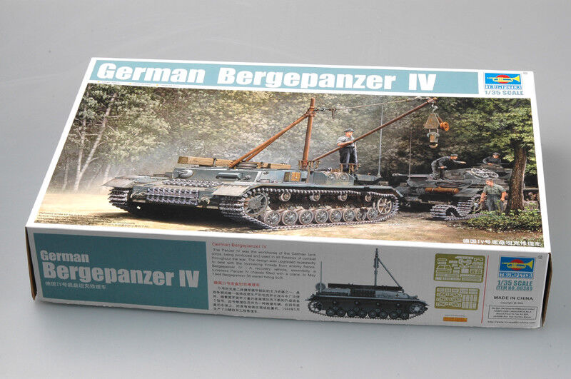 00389 Trumpeter 1 35 Model German Bergepanzer IV Recovery Tank Vehicle Kit