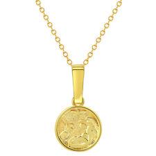 CA Gift 18K Gold Plated Guardian Angel Crib Medal w Ribbon Gift Boxed FREE SHIP!