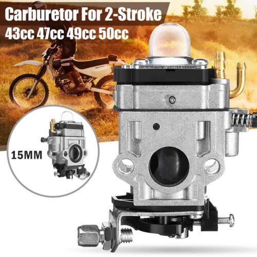 CARBURETTOR Carb For Petrol Scooter Go-Ped 49cc 43cc Midi Bike Mini Moto 15mm