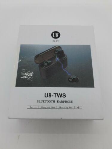 U8 TWS Bluetooth 5.0 Headphone Twins Earbuds Stereo Wireless in-ear Earphone CPR