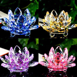 Crystal lotus flower ornament large crystocraft home decor all image is loading crystal lotus flower ornament large crystocraft home decor mightylinksfo