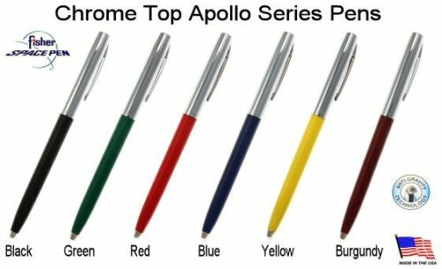 Apollo Series Pen in Red /& Chrome Fisher Space Pen #S251-RED
