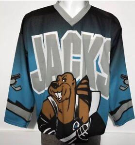 4d6c2f187de Image is loading Vintage-Cleveland-Lumberjacks-Hockey-Jersey-Rare
