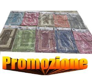 Set tappeto tappeti bagno tris antiscivolo doccia tappetini