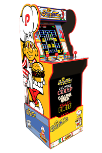 Arcade1up-Burger-time-Arcade-1up-Cabinet-Machine-Retro-Riser-Light-Up-Marquee