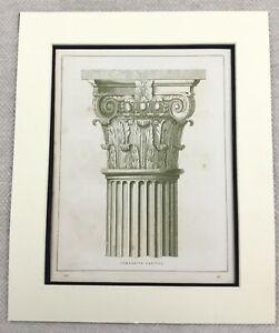 1859-Print-Architectural-Composite-Column-Capital-Architecture-Antique-Original