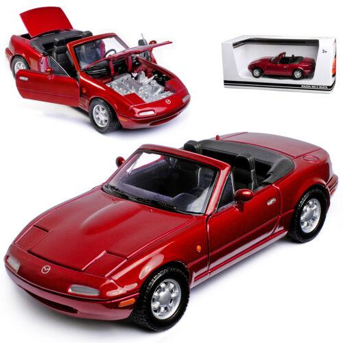 Mazda mx-5 cabrio rojo oscuro metalizado 1 Generation na 1989-1998 1//24 Motormax M