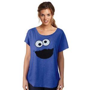 84665d11 Image is loading Sesame-Street-Cookie-Monster-Vintage-Dolman-Junior-Women-