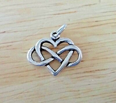 Sterling Silver 3D 21x20x5mm say Love You Heart Locket Rose Charm