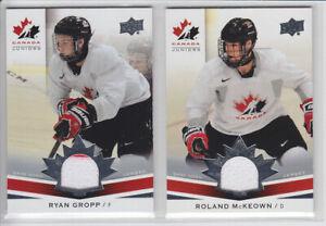 2014-15-UD-CANADA-JUNIORS-RYAN-GROPP-GAME-JERSEY-174-GAME-USED-2-CLR-Upper-Deck