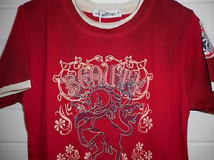 cooles-Pferde-Shirt-Einhorn-T-Shirt-im-Layerlook-Gr-134-140-Neu