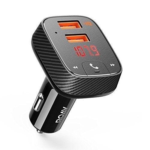 Anker Roav Dual USB Charger Car Kit FM Transmitter, Bluetooth 4.2 Receiver