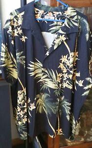 Caribbean-Joe-Black-BGT-3X-Big-and-Tall-Mens-Short-Sleeved-Hawaiian-Shirt-Rayon