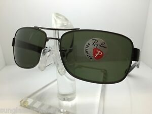 11eef2db68 AUTHENTIC RAYBAN RB 3522 004 9A RAY BAN RB3522 61MM GUNMETAL GREEN ...