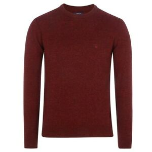 GANT-Men-039-s-Bordeaux-O1-Donegal-Crew-Sweater-86551-Size-Medium-NWT