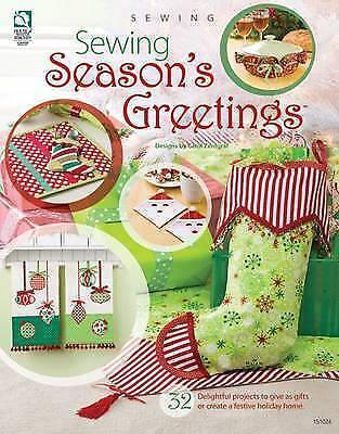 Sewing Season's Greetings Paperback Book Christmas Crafts Fabric Carol Zentgraf