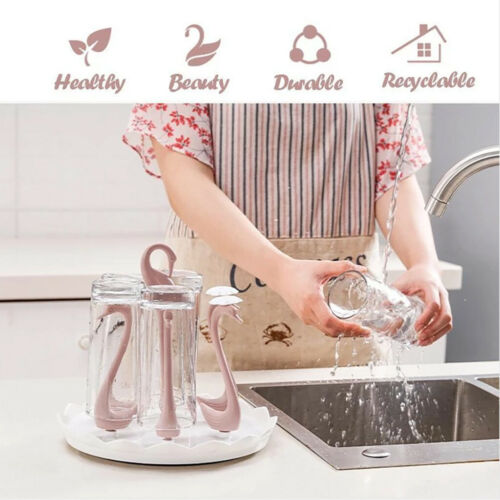 Swan Rotating Cup Holder Drainage Rack Home Creative Storage Rack Cup Holder