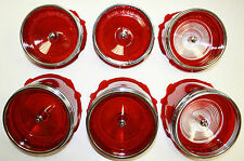 1965 CHEVROLET IMPALA TAIL LIGHT LENS SET OF 6 W BACK UP LENS GM RESTO PARTS