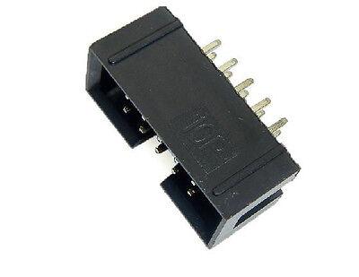 20pcs 2.54mm Pitch Dual Row 5 x 2 ISP Download JTAG I/O Socket DIY DC3-10P New