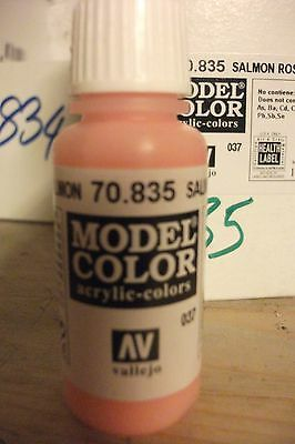 Modello Pittura 17ml Bottiglia Val835 Av Vallejo Model Color Painting Supplies Salmone Rosa