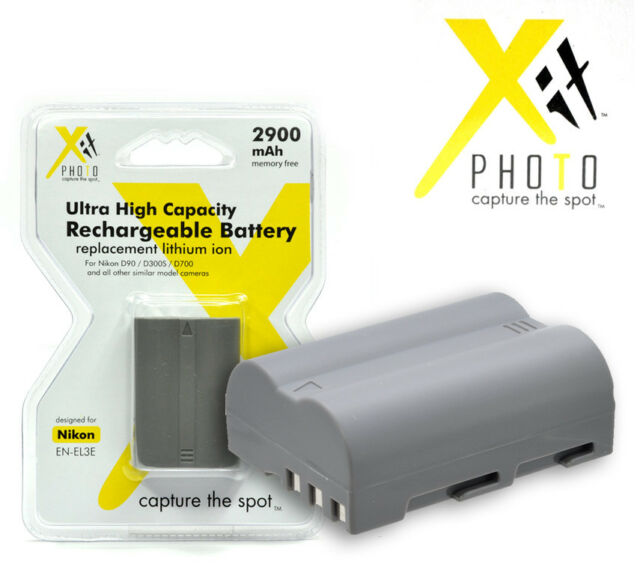 2 Battery For Nikon En El3e 2900mah Xtenel3e Xit Ebay
