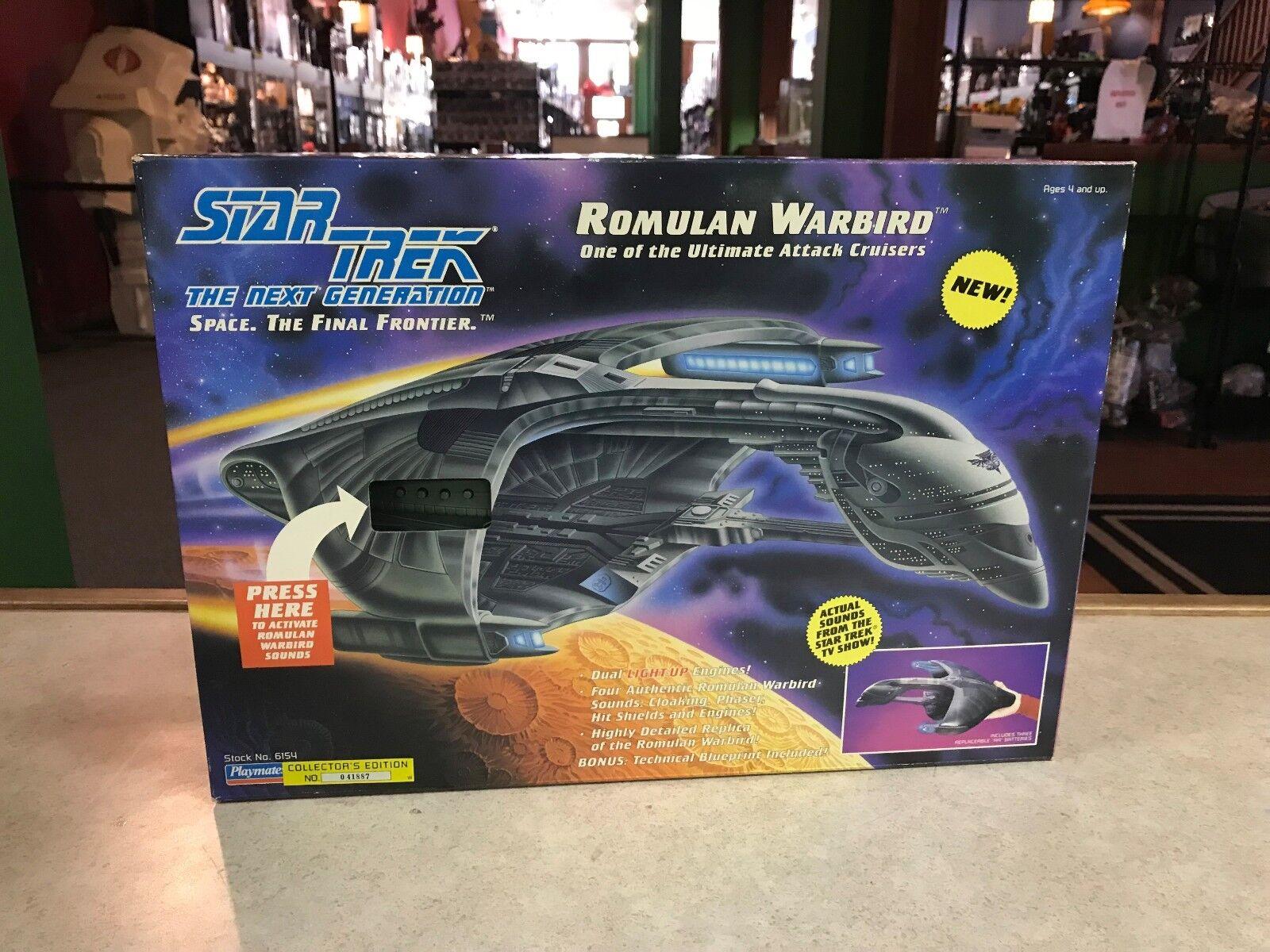 1993 spielkameraden, star trek, die nächste generation romulanischer warbird nib