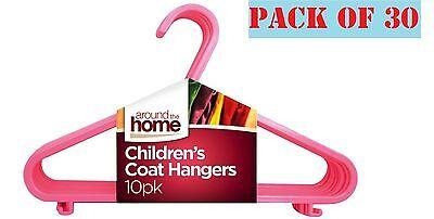 Importato Dall'Estero 30 X Bambini Bambini Plastica Appendini Per Neonate Vestiti Bucato Appendiabito Rosa-mostra Il Titolo Originale